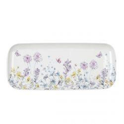 bandeja de melamina estampada con flores de diseño