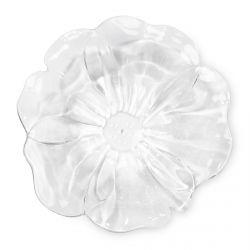 cuenco acrílico transparente con forma de flor