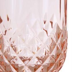 jarra acrílica rosa de diseño facetado