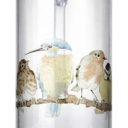 jarra acrílica estampada con pajarillos