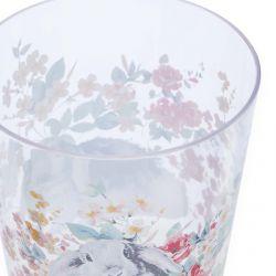 vaso acrílico estampado con flores de diseño