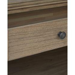 consola de diseño en madera de mindi