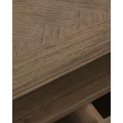 mueble de televisión de diseño en madera de mindi