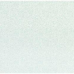 papel pintado de pequeñas hojas blancas sobre fondo azul verdoso