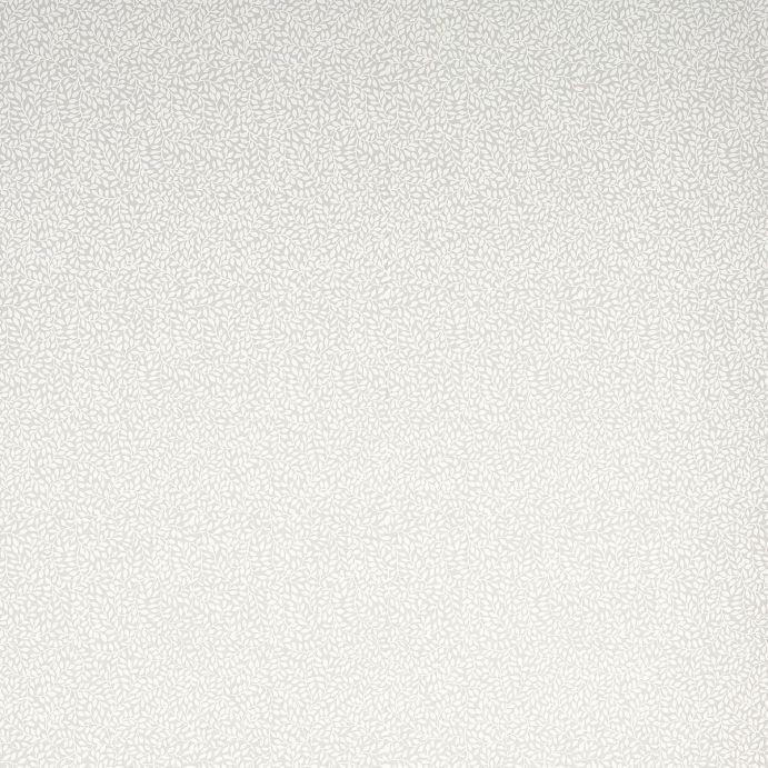 papel pintado de pequeñas hojas blancas sobre fondo gris plata