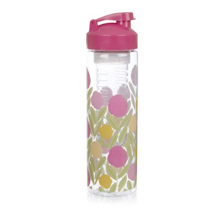 botella para infusiones estampada con flores de diseño