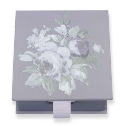 block de notas con flores de diseño