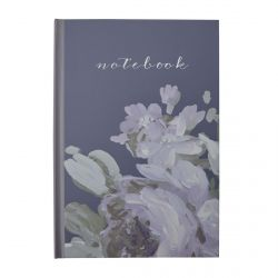 libreta con tapa dura estampada con flores de diseño