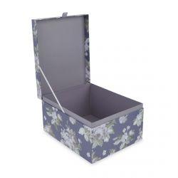 juego de tres cajas estampadas con flores de diseño