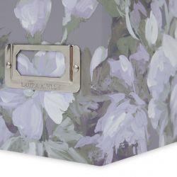 archivador revistero con flores de diseño