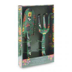 accesorios para el cuidado del jardín en verde con estampado de diseño