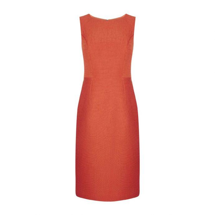 vestido naranja de diseño ideal para invitadas perfectas