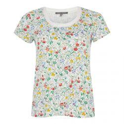 camiseta de estampado de flores multi color de diseño