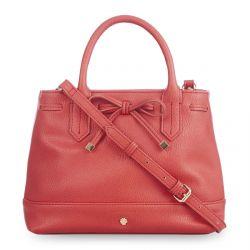 bolso rojo con lazo decorativo de diseño