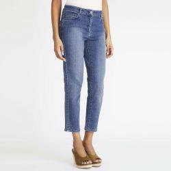 jeans tobilleros ajustados en azul índigo