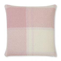 cojín clásico de cuadros en suave rosa maquillaje, de diseño