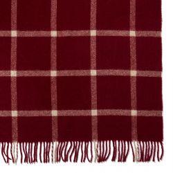 manta de clásico cuadro rojo de diseño