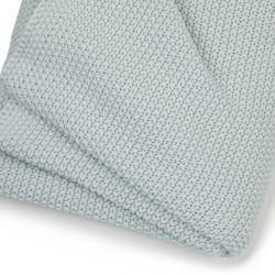 manta tejida de algodón en azul verdoso muy acogedora