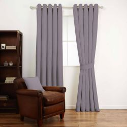tejido liso en tono morado ideal para confección de cortiinas y estiores de diseño