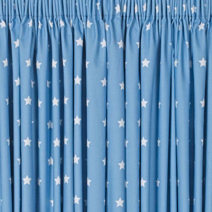 cortinas Stars azul opacas