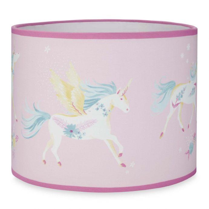 pantalla rosa colgante con unicornios de diseño