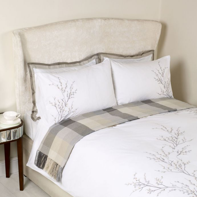 funda nórdica Pussy Willow gris claro cama 150- TARAS