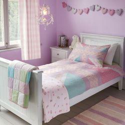 funda nórdica para niñas en precioso estampado de diseño patchwork multi color