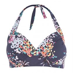 top bikini Navy Tropical Floral