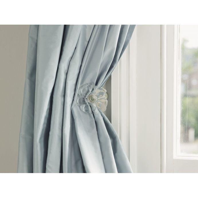 Precioso alzapaños de cristal en forma de flor para las cortinas
