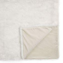 manta efecto peluche blanco, de diseño