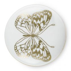 4 tiradores para cajón con mariposa dorada estampada de diseño, ideal para renovar tus muebles