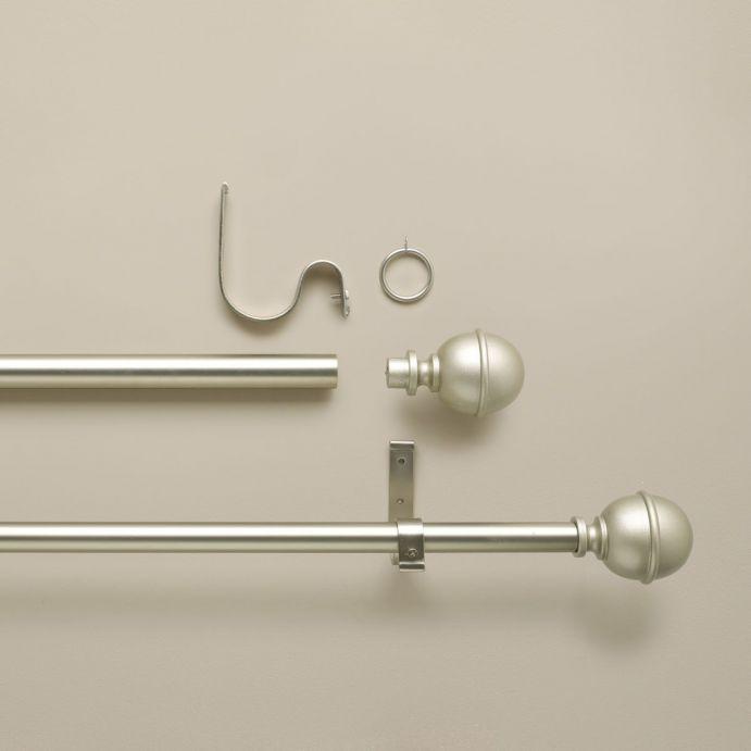 barra en kit metal plata bruñida - D 2.8 cm