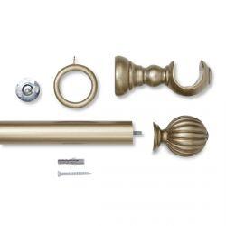 barra en kit madera peltre envejecido - estriado - L150 cm D3.5cm