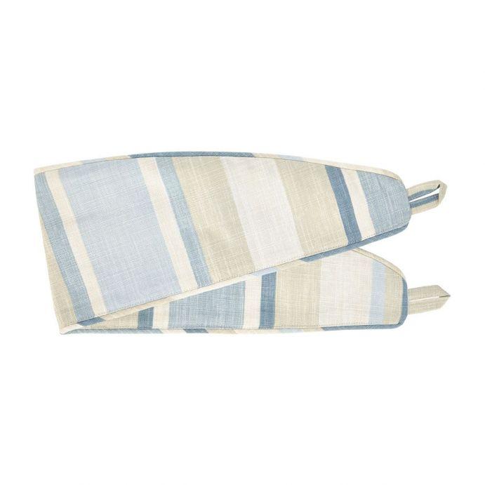 sujeción para cortinas textil en rayas azul mar