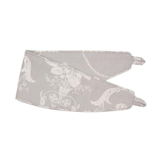 sujeción para cortinas textil de estampado gris de diseño
