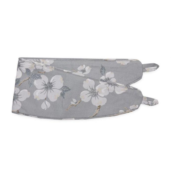 sujección para cortinas en tejido estampado gris pizarra de diseño