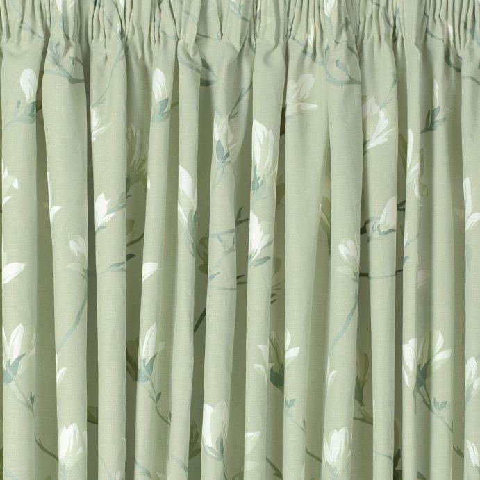 cortinas Magnolia Grove verde seto plisadas