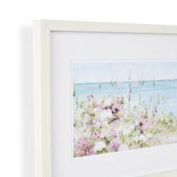 cuadro enmarcado con imagen costera de flores de diseño