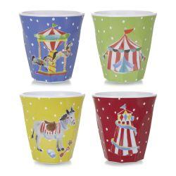 vasos de melamina multicolor de diseño