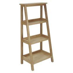 estantería de roble en forma de escalera baja de diseño