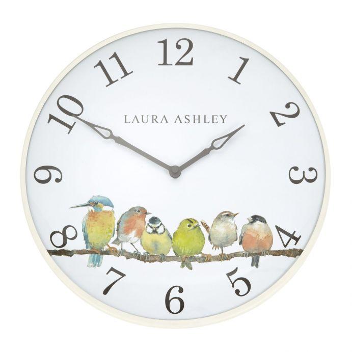 reloj de pared con pájaros de diseño