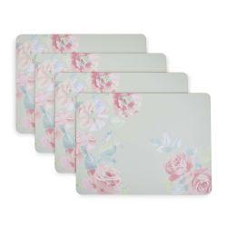 salvamanteles de estampado floral en tonos pastel