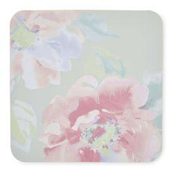 posavasos de estampado floral en tonos pastel