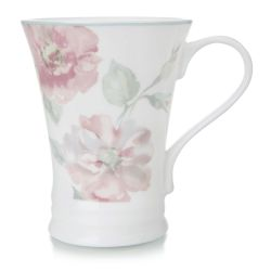taza de porcelana estampado con rosas de diseño