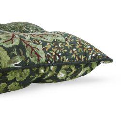 cojín para silla estampado con hojas en tonos verde de diseño