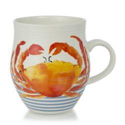 taza de desayuno con divertido cangrejo estampado