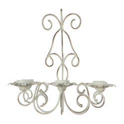 portavelas de diseño, ideal para exterior, con forma de lámpara de araña de 6 brazos