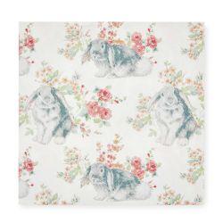 servilletas de papel estampadas con diseño de conejitos