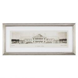 cuadro con gran escuela grabada en marco, con taras