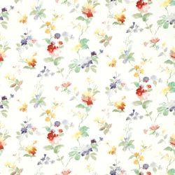papel pintado de flores multi color de diseño